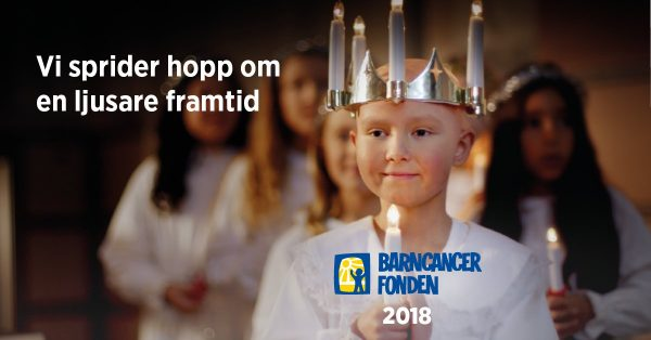 Spread some hope this christmas and support Barncancerfonden