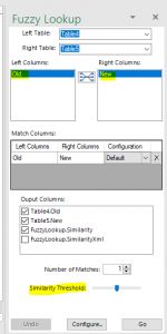 At Infozone we use the Fuzzy Lookup Add-In enables you to match inexact data