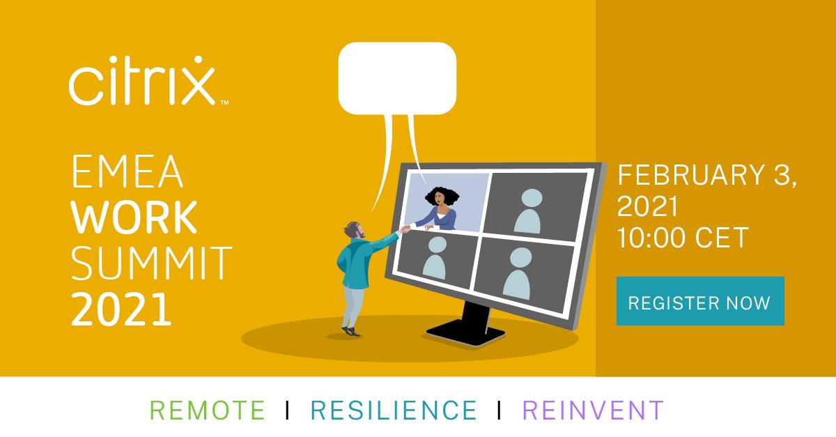 Missa inte att anmäla dig till Citrix Work Summit i febaruari